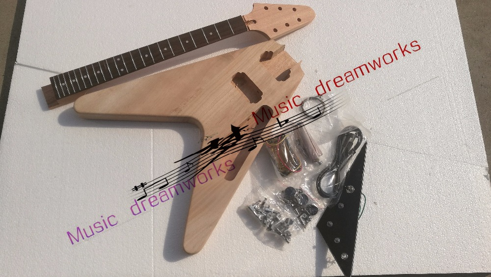 China OEM firehawk shop fly Electric Guitar Semi-finished guitar, unfinished, personal DIY image