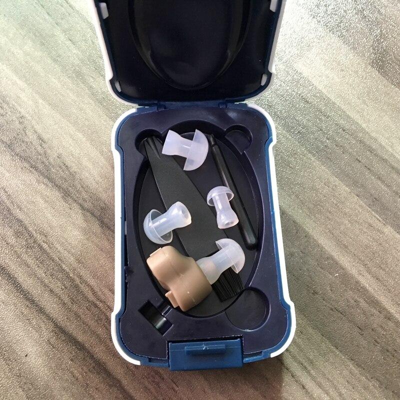 Mini próteses auditiva com amplificador de som tom ajustável