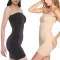 Большой размер женщины сексуальная похудения телевизор Top платье для невесты тела платье регулируемый белье управления промахи полный шликеры