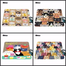 High Promoting Anti-Slip PC Cute Cartoon Anime Cat Gaming Mouse Pad New Rubber Non-Skid Rubber Pad 18*22cm /25*29cm Or 25*20cm