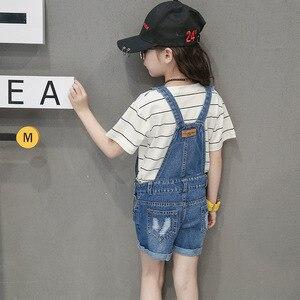 Image 3 - Tiener Meisjes Overalls Cowboy Borstplaat 2020 Tiener Broek Kids Tuinbroek Denim Overall Kleding Voor 2 3 4 5 6 8 10 12 14 Jaar