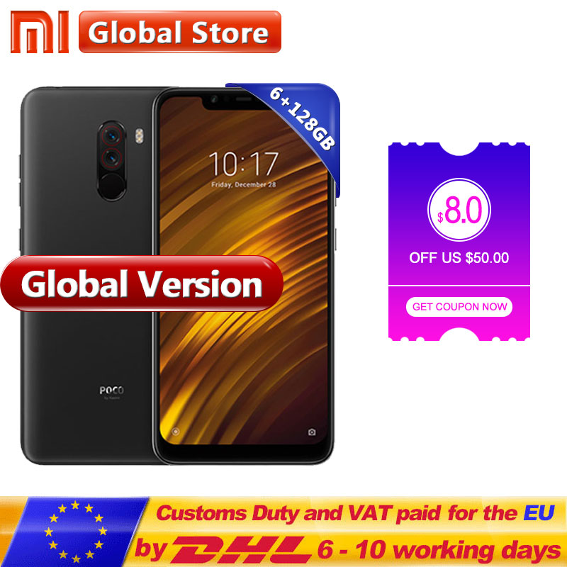 Global Version Xiaomi POCOPHONE F1 128GB ROM 6GB RAM POCO F1