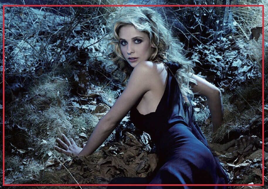Decorative Fun Magnets 78*54*3mm Sarah Michelle Gellar Fridge Magnets <font><b>20240</b></font> image