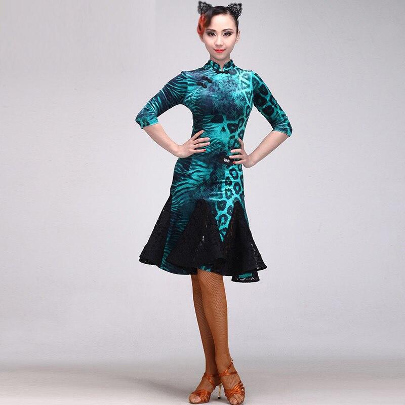 Picture of Latin Dance Dress Fringe Women Latin Dress Dancing Clothes Dancewear Dress Latina Salsa Dress Latin Dance Costumes For Women