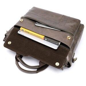 Image 4 - MVA Mode Koeienhuid Lederen mannen Aktetas 14 Inch Laptop Computer Tas Mode Business Mannen Casual Messenger Bag Mannen Handtas