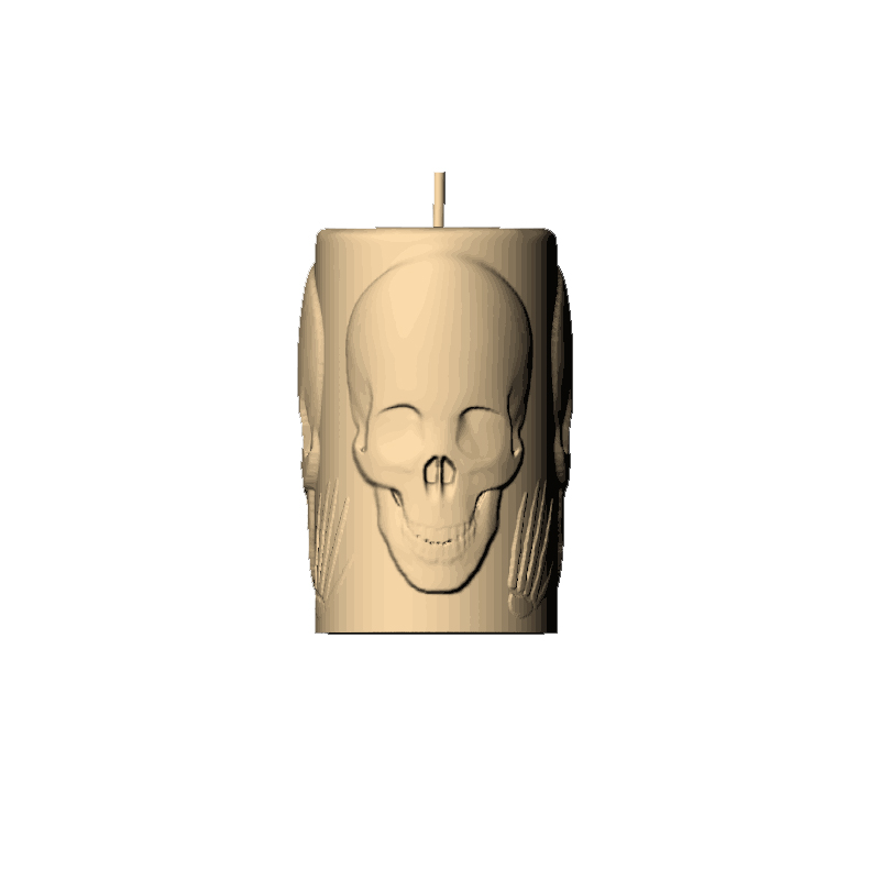Skull  Silicone Candle Mold Ghost  Aromatherapy Gypsum Mold