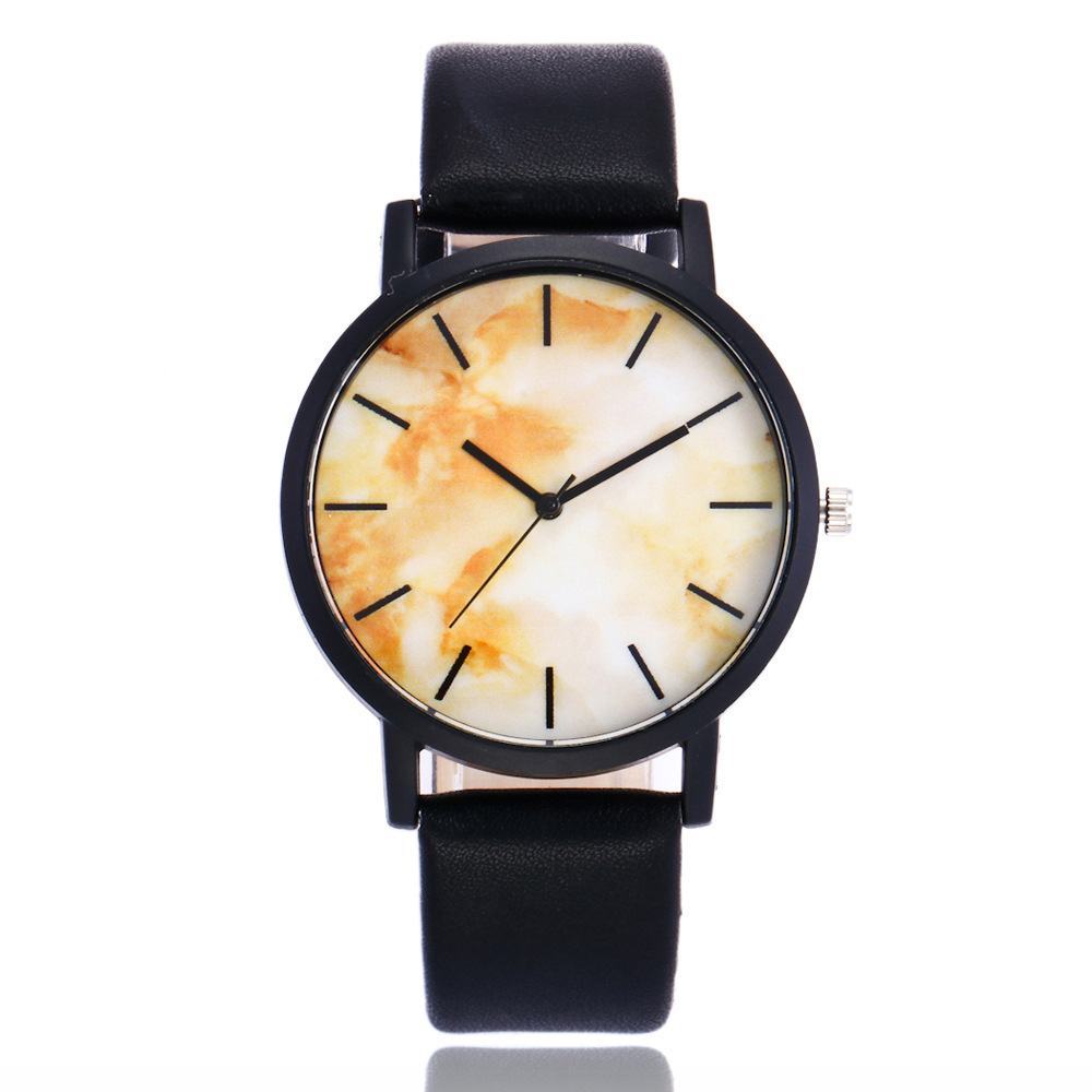 Fashion Casual Creative Lover's Watch Women's Quartz Wristwatch Leahter Marble Line Women's Bracelet Watch Relogio Feminino Gift