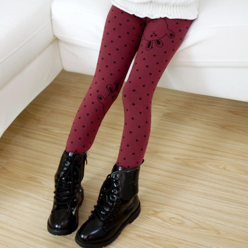 New Arrival Full Length Dot Girls Regular Elastic Waist Pencil Pants Mid Woven Pants & Capris Pants For Girls Free shipping