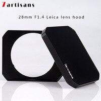 7 artisans rectangular metal hood for 7artisans 28mm F1.4 for Leica lens hood+cap