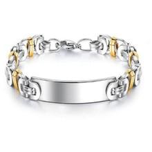 Stainless Steel Mens Bracelet Byzantine Glossy Hip-hop fashion jewelry 8.8mm wide