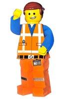 Lego Человек Маскоты Костюм Кукла персонажа из мультфильма Косплэй сделано карнавальный костюм маскарадный костюм Маскоты костюмы