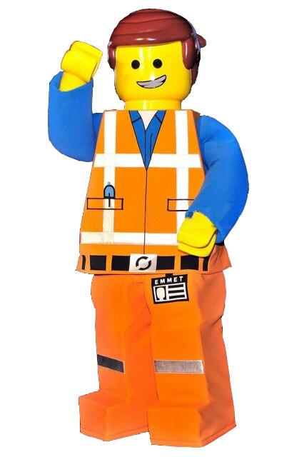 Lego Homme Costume De Mascotte Poupée de Bande Dessinée Caractère Cosplay Fait Carnaval Costume Fantaisie Robe Mascotte Costumes