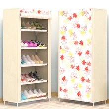 Maple Leaf Candy Color Shoe Racks Cabinet Shoes Rack Space Saver Boot Organizer Shelf Home Furniture DIY Assembly Non woven