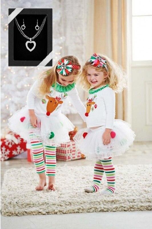 Baby Christmas Clothing Kids Baby Girls Reindeer Tops Tutu Pants Leggings Outfits Set Cute Baby Warm Clothes 2015 elegant baby girls christmas reindeer top tutu tulle skirt pants 2 pc outfit set children christmas clothing
