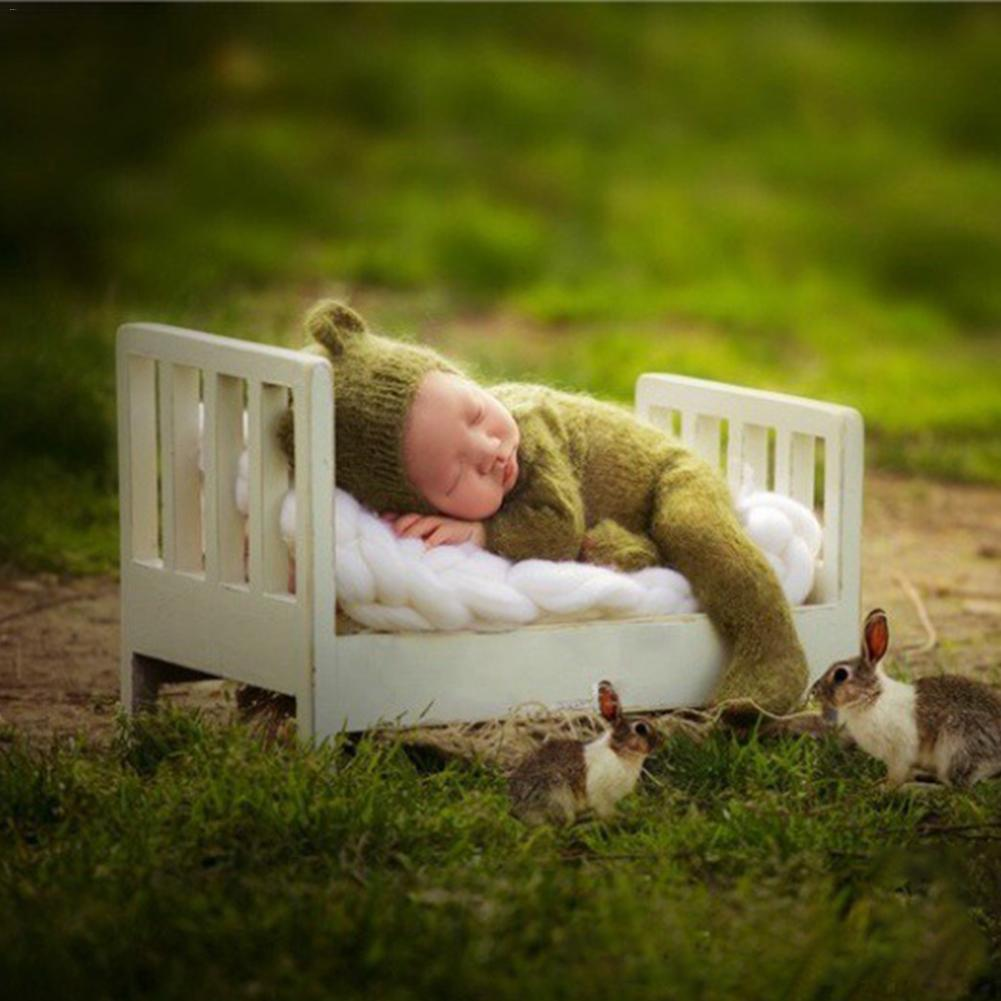 Newborn Photography Props Cot Baby Small Wooden Bed Posing Prop Photo Studio Crib Props For Photo Shoot Posing Sofa