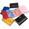 VSEN 10pcsCOFA Leather Wallets Credit Card Holder ID Business Case Purse Men Women - Pink