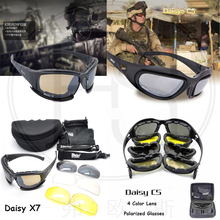 Popular Daisy X7 C5 Tactical Polarized Shooting Glasses Men Outdoor Hunting Goggles 4 lenses Kit Hiking Cycling Eyewear
