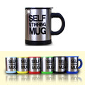 2016 NEW Automatic coffee mixing cup/mug blew stainless steel self stirring electric coffee mug 350ml SIX Color  Retail Package
