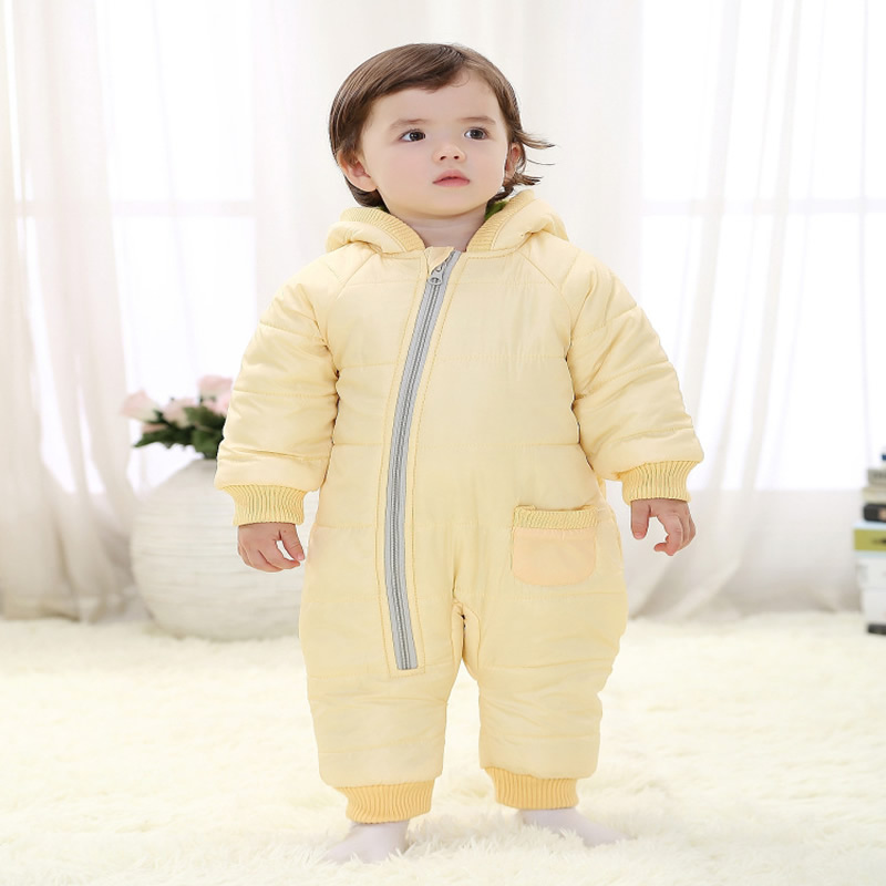 2016 High Quality Baby Rompers Winter Thick Cotton Boys Costume Girls Warm Clothes Kid Jumpsuit Children Outer wear Baby Wear