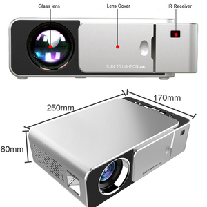 Image 3 - WZATCO T6 Android 10 WIFI Optional 3000lumen 720p HD Portable LED Projector HDMI Support 4K 1080p Home Theater Proyector Beamer