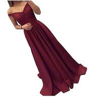 Burgundy Cap Sleeve Satin Long Bridesmaid Dresses Pleated Formal Women Wedding Party Dresses 2019 New Selling