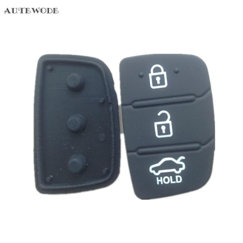 AUTEWODE Replacement Remote Key Shell Rubber pad fit for HYUNDAI ix45 Santa Fe Fob3 Button auto parts 10pcs