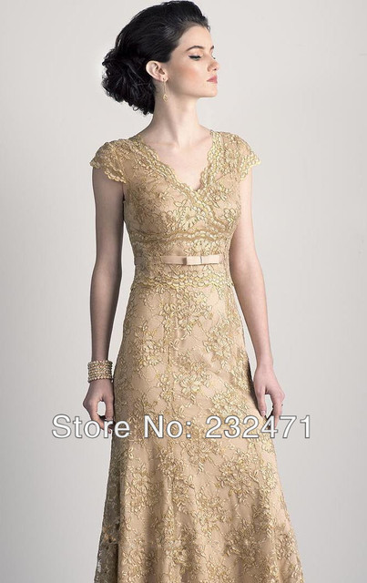 Mother of Bride Dresses for Women as Gold