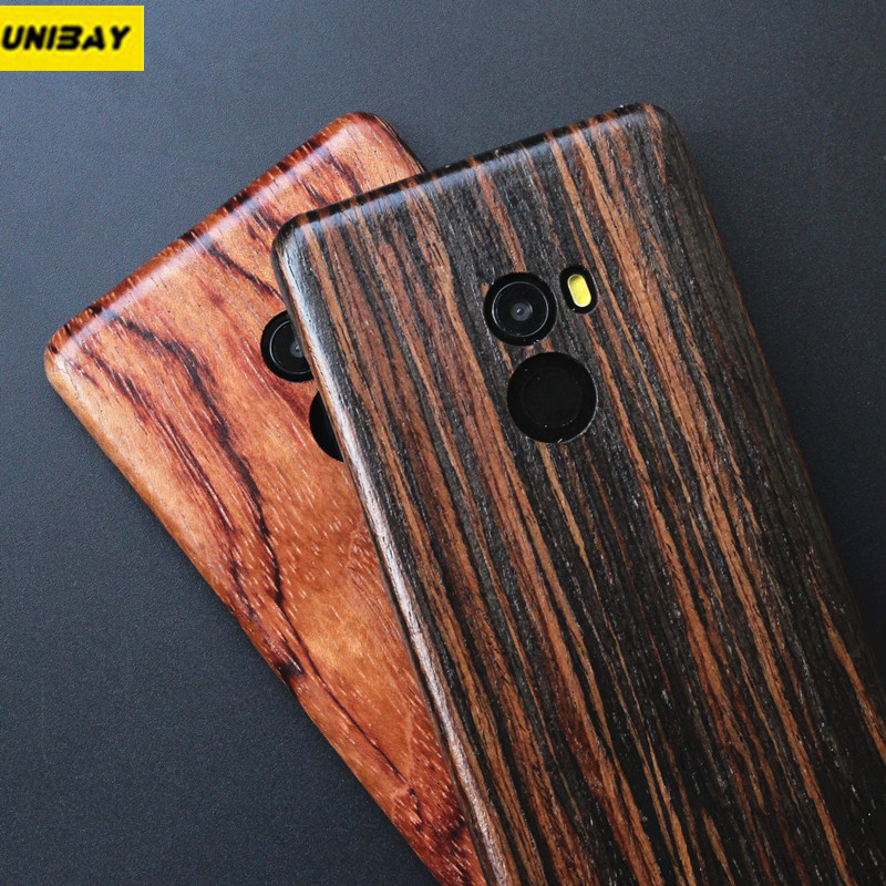 Unibay Original Xiaomi mi mix 2 Wood Case Real Bamboo Xiaomi mi mix2 Hard Case Cover Shock-Proof Phone case for xiaomi mix 2 wood