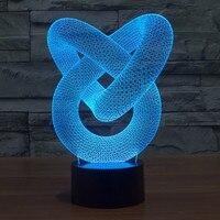 3Dศิลปะวงการบทคัดย่อตกแต่งสัปหงกl amparaลาวานำโคมไฟตั้งโต๊ะไฟกลางคืน3Dภาพลวงตาl amparas 3d led