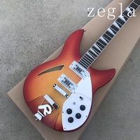Free shipping Top Quality Cherry red 6 Strings 330 model Semi Hollow Rick Guitar with R Tremolo In Stock