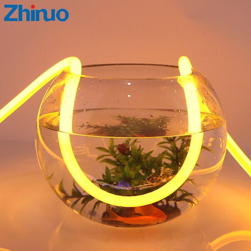 Neón bricolaje Luces acuario 220 V tira llevada Flexible Neonlight tubos impermeables Luces LED Decoracion etapa decoración de la muestra signos de iluminación