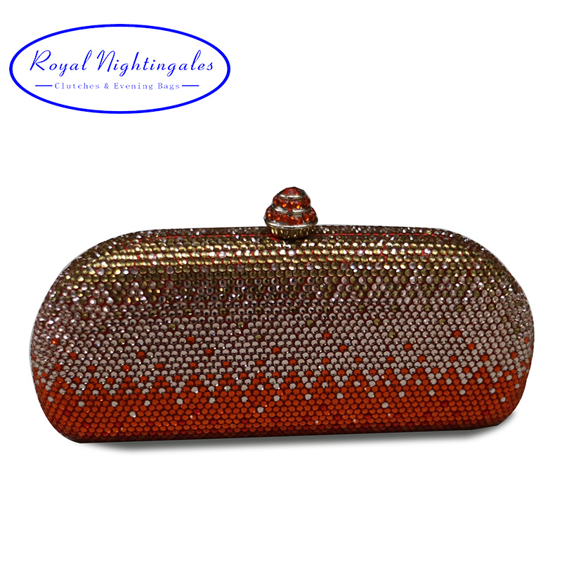 Luxury Red Crystal Clutches and Evening Bags for Prom Bridal Evening Party