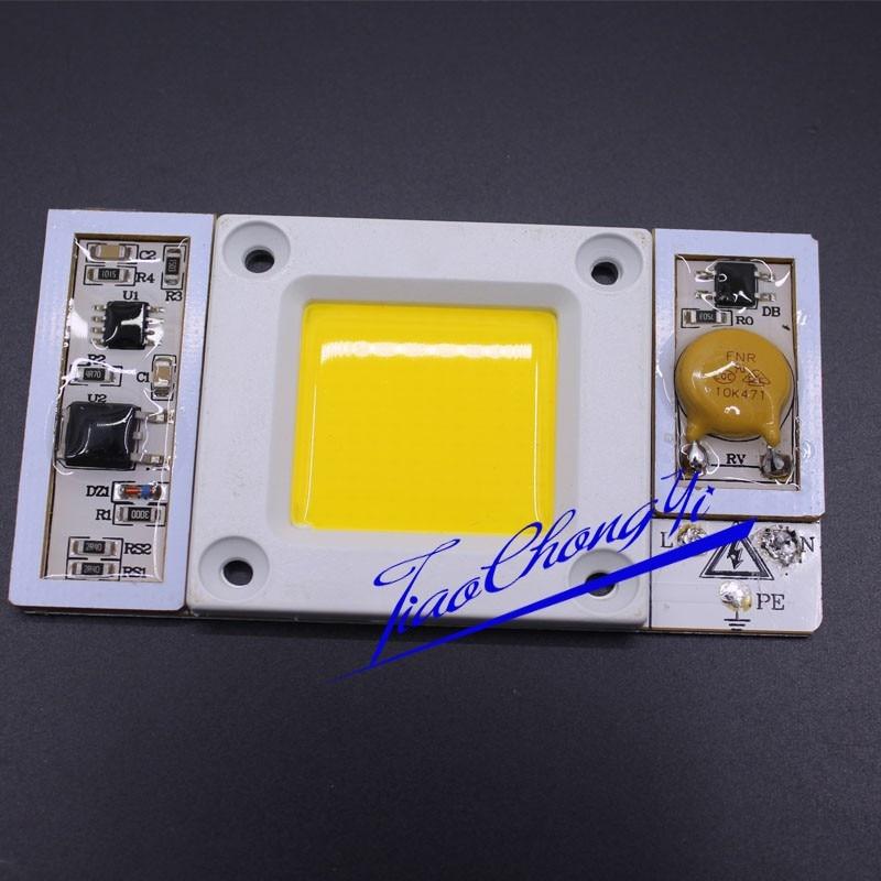 1 шт. AC 220 В 170-300vac высокое Мощность 50 Вт светодиодный чип встроенный в драйвер холодный белый 6000 К-6500 К LED