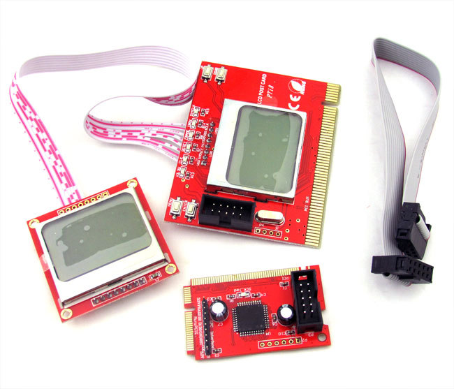 Factory Price! New PC Mini PCI-E PCI LPC Diagnostic Post Card PC Analyzer Tester Dual LCD post card pti8 pc tester