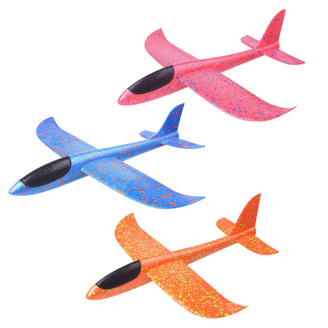 10Pcs 48cm DIY Hand Throw Flying Glider Planes Foam Aeroplane Model Party Bag Fillers Flying Glider Plane Toys For Children Game
