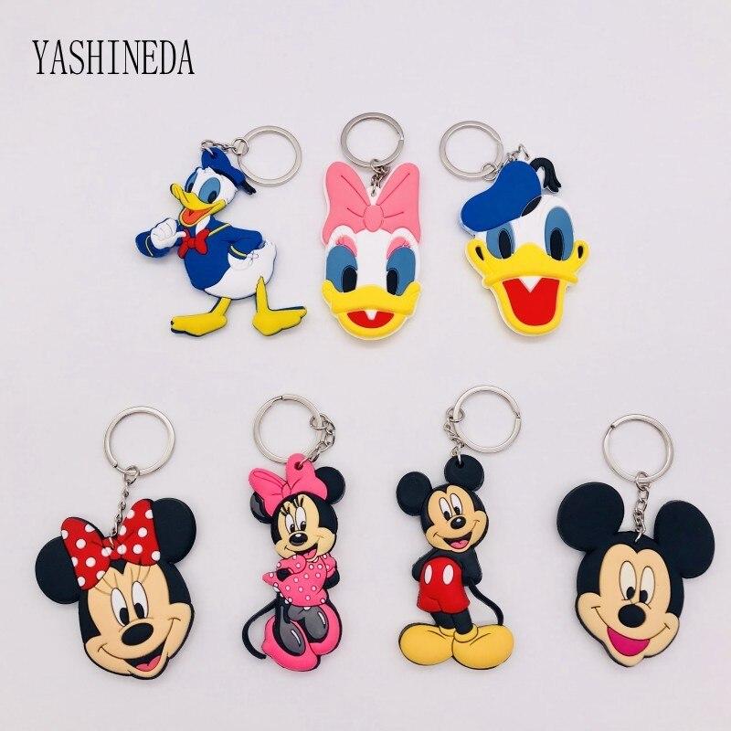 1 Stücke Cartoon Abbildung Mickey Minnie Schlüssel Kette 3d Doppel Seite Key Ring Nette Pvc Anime Keychain Kinder Spielzeug Schlüssel Halter Schmuck Geschenk Preisnachlass