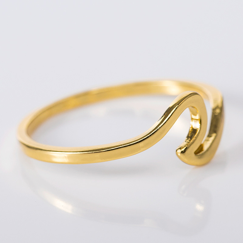 Fashion Simple Wave Rings for Women White Gold Color Wedding Jewelry Ladies Gifts 2019 New Arrivals