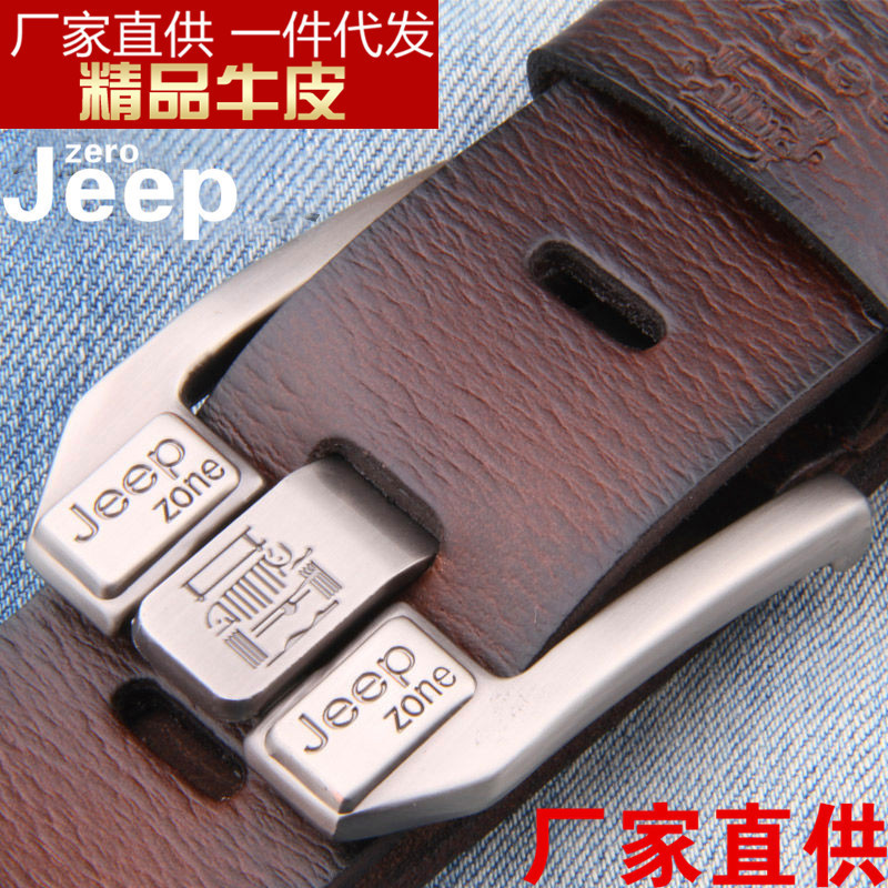 Belt   For Men Genuine Real Leather Cowhide Cowskin Casual Pin Buckle High Top Quality Young Male Strap Jeans Denim New Hot Men's