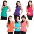 Кормящих Одежда Для Беременных Лето Блузка Беременных Топы Футболка Стрейч Большие Женщины С Грудного Вскармливания Одежда Груди Жилет