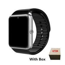Original Relógio Inteligente Relógio GT08 Empurre o Cartão Sim Mensagem Conectividade Bluetooth Para Android IOS apple Telefone PK Q18 DZ09 Smartwatch