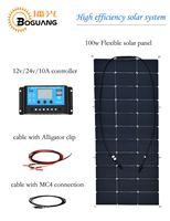Boguang 100 w flexibele zonnepaneel Hoge efficiëntie monokristallijne mobiele zonne-energie bank panel voor 12 v batterij RV jacht lading
