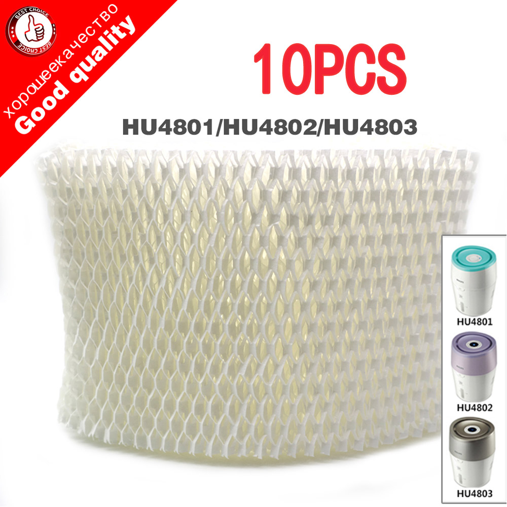 10pcs replacement HU4102 humidifier filters Filter bacteria and scale for Philips HU4801 HU4802 HU4803 Humidifier Parts
