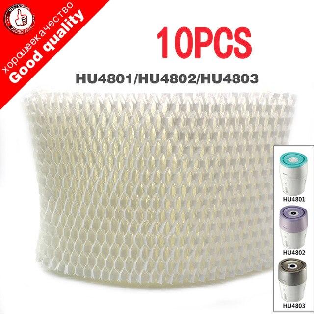 10 stücke ersatz HU4102 luftbefeuchter filter, Filter bakterien und skala für Philips HU4801 HU4802 HU4803 Luftbefeuchter Teile