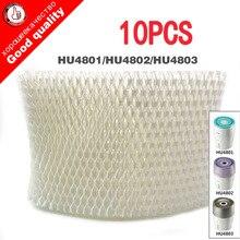 10pcs substituição hu4102 umidificador filtros, filtro bactérias e escala para philips hu4801 hu4802 hu4803 umidificador peças