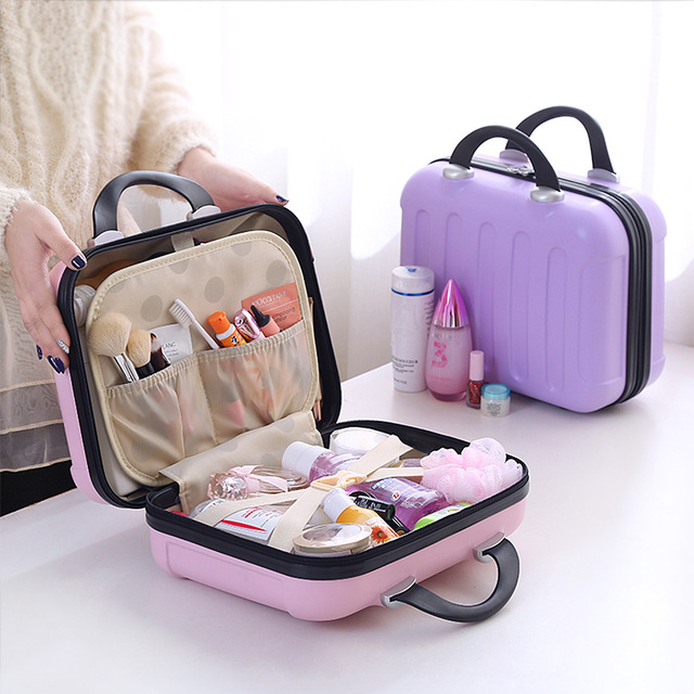 Excellent Women Cosmetic Cases Capacity Large Cosmetic Bags Box Makeup Case  WZ32