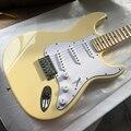 2018 Новое поступление электрогитары глубокий зубчатый клен гриф гитара Сливочный Yngwie Malmsteen signature ST бесплатная доставка