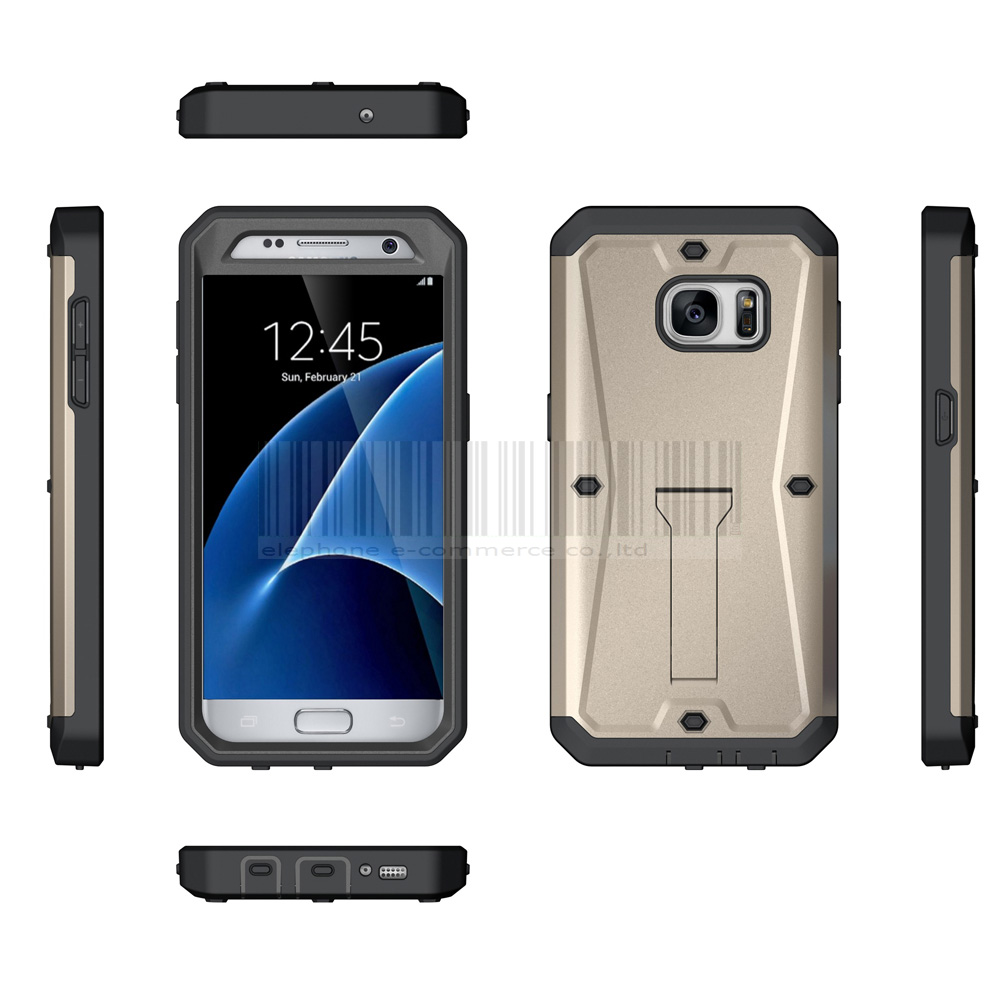 the latest d60fa 342ee US $4.2 |Heavy Duty Hybrid Tank Armor Case With Built in Screen Protector +  Kickstand Shockproof Hard Cover For Samsung Galaxy S7 G930-in Fitted Cases  ...