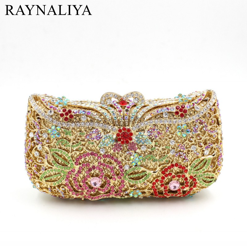 Women Socialite Rhinestones Evening Clutches Bag Crystal Wedding Dress Bridal Diamond Chains Shoulder Handbags Purse SMYZH-F0293 ladies wedding dress bridal crystal clutch bag women diamond dinner banquet evening purse silver metal clutches smyzh f0300