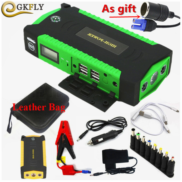 High Capacity Starting Device Booster 600A 12V Portable Car Jump Starter Power Bank Car Starter For Car Battery Charger Buster