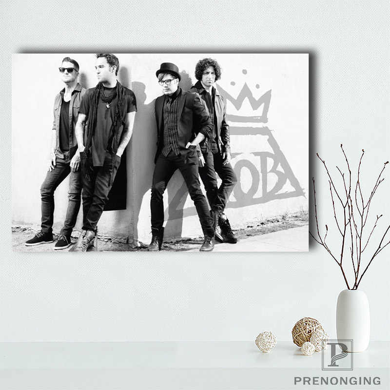 Canvas Poster Zijde Populaire Poster Fall Out Boy Muziek Decoratieve Thuis Poster @ 190414-H-35